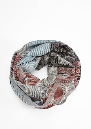Extra wide jacquard snood from s.Oliver