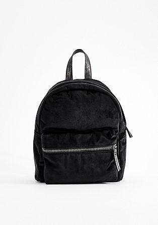 Stylish velvet rucksack from s.Oliver