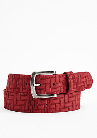 Textured leather belt from s.Oliver