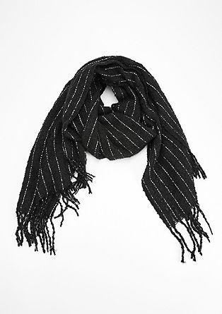 Bouclé scarf with glitter details from s.Oliver