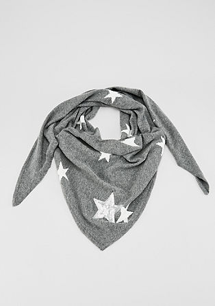 Fine knit scarf with stars from s.Oliver