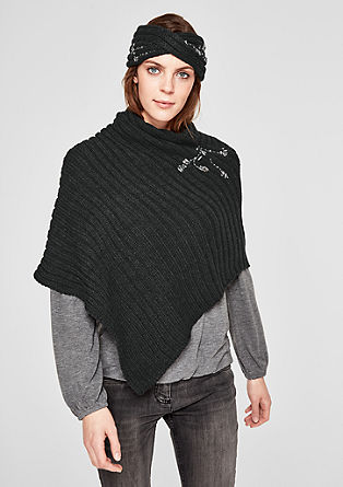 Poncho with gemstones from s.Oliver