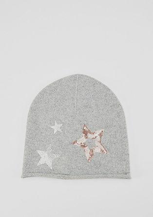 Kapa beanie s svetlikajočimi se zvezdami