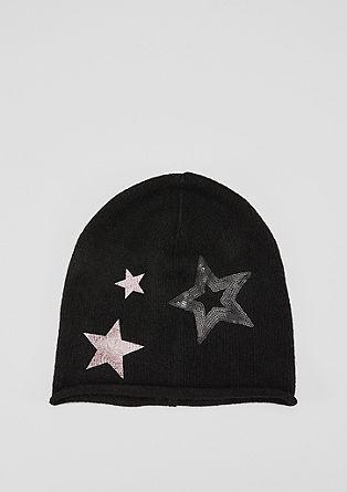 Beanie mit Glitzer-Sternen