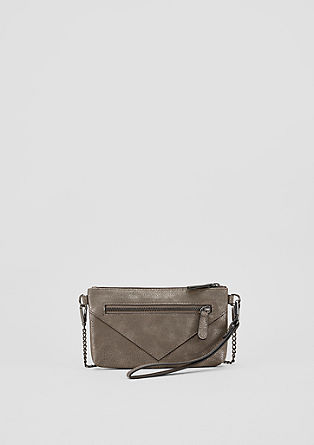Clutch bag with a fine grain from s.Oliver