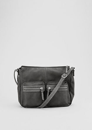 Shoulder Bag mit Metall-Zippern