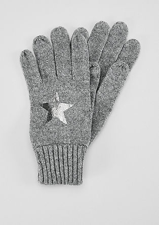 Gloves with a metallic print from s.Oliver