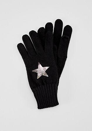Handschoenen met een metallic print