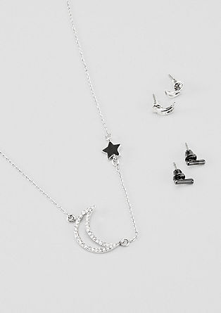 Jewellery set with stud earrings and necklace from s.Oliver