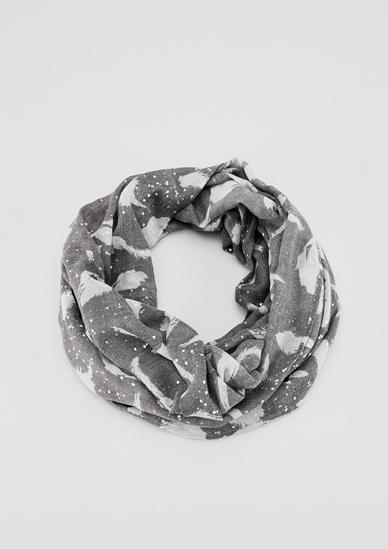 Loop | Accessoires > Schals & Tücher > Loops | Grau/schwarz | 70% polyester -  30% viskose | s.Oliver