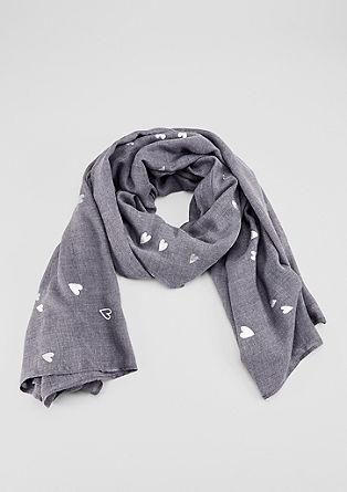 XXL-Schal mit Folien-Print