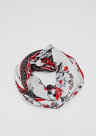 Leichter Loop-Schal mit Muster