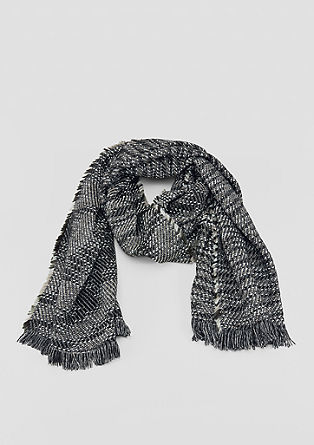 Woven scarf with a shiny finish from s.Oliver