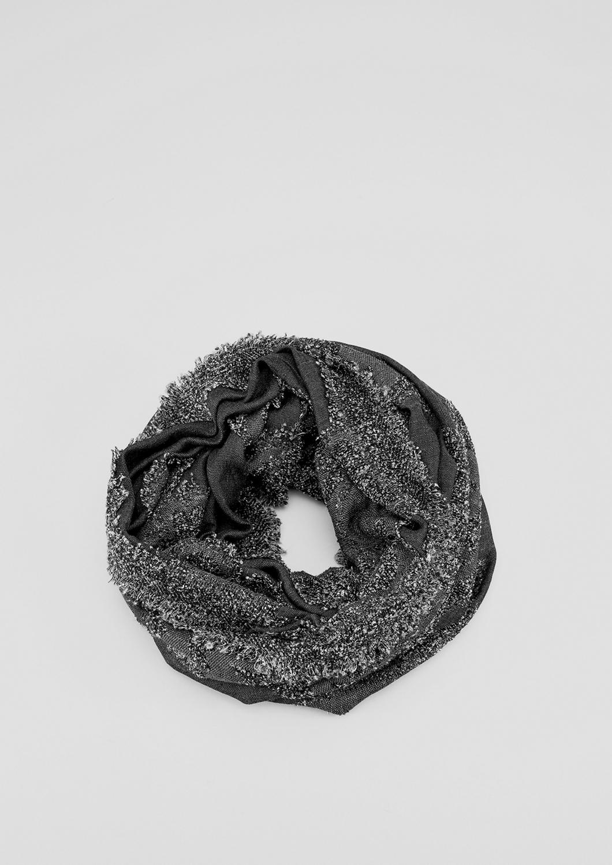Loop | Accessoires > Schals & Tücher > Loops | Grau/schwarz | 35% viskose -  24% polyacryl -  21% modal -  18% polyamid -  2% polyester | s.Oliver