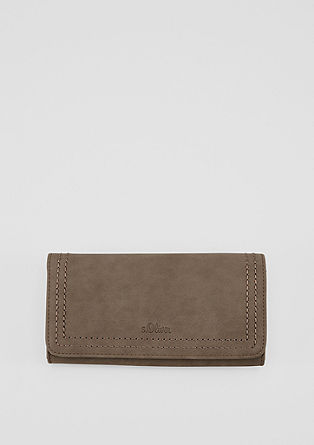 Flap Wallet mit Steppnaht