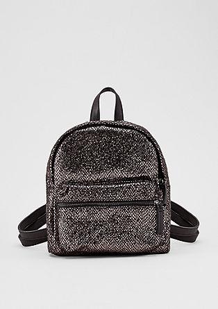 Petit sac à dos d'aspect métallisé de s.Oliver