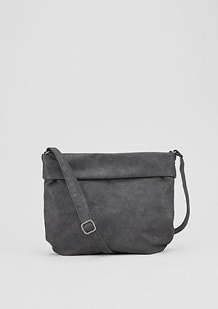 Strukturmix-Shoulder Bag mit Umschlag