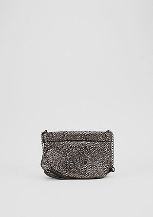Metallic mini bag met omslag