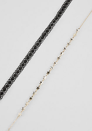 Choker and necklace set from s.Oliver