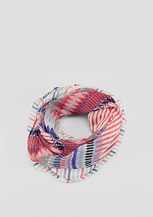 Vzorovaná, žakárová kruhová šála