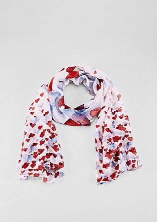 Scarf with an all-over print from s.Oliver