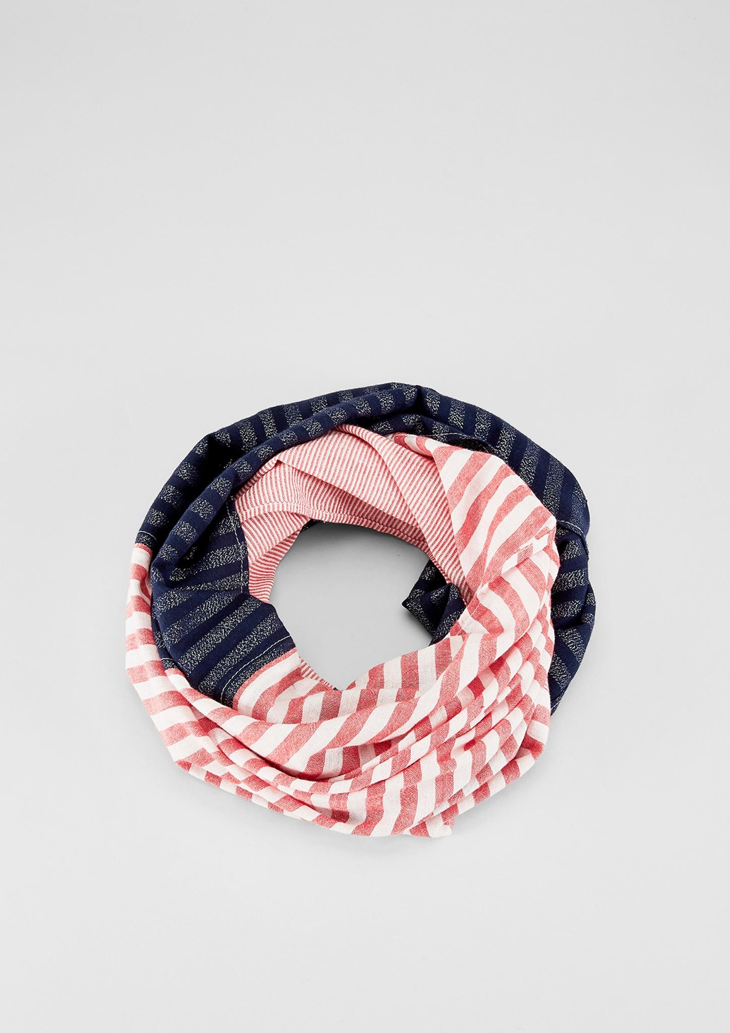 Loop | Accessoires > Schals & Tücher > Loops | Rot | Obermaterial a 76% viskose -  15% baumwolle -  9% metallisiertes garn| obermaterial b 100% baumwolle | s.Oliver