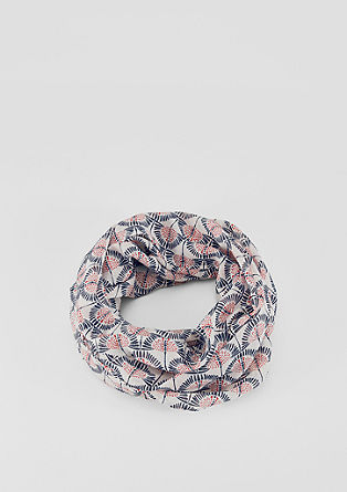 Lightweight snood with a print from s.Oliver
