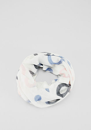 Écharpe tube à motifs circulaires jacquard de s.Oliver