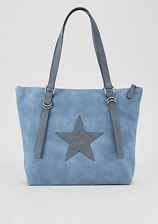 Shopper bag with an appliquéd star from s.Oliver