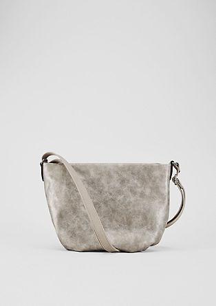 Středně velká kabelka zkombinace materiálů