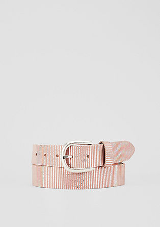 Striped leather belt from s.Oliver