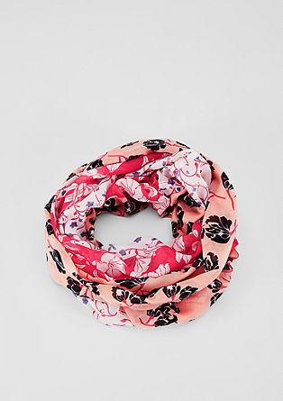 Écharpe tube à motif fleurs de s.Oliver