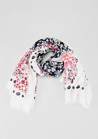 Oversize-Tuch mit floralem Print