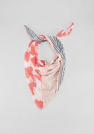 Foulard à mélange de motifs et paillettes de s.Oliver