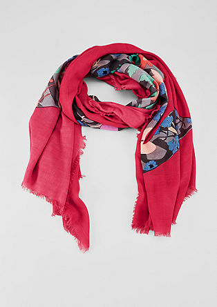 XXL scarf with a floral print from s.Oliver