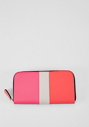 Zip-up purse with colour blocking from s.Oliver