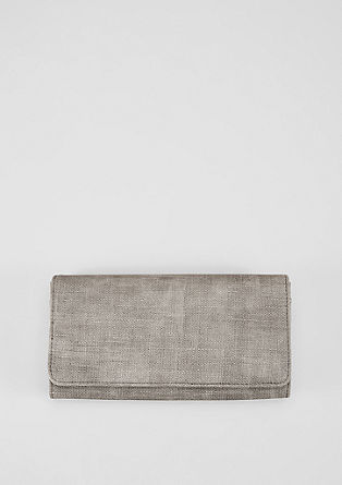 Flap Wallet mit Textur