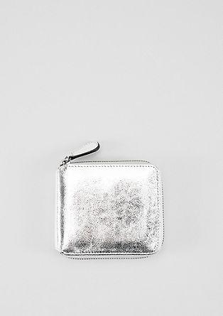 Zip Wallet im Metallic-Look
