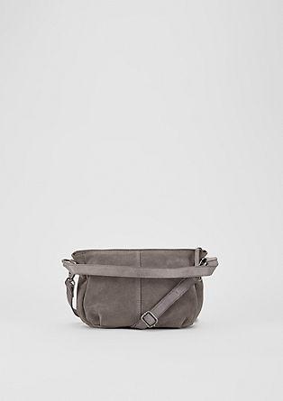 Malá kabelka hobo z velurové usně