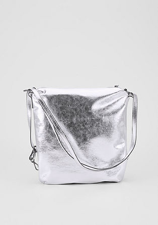 Hobo bag – backpack in a metallic look from s.Oliver