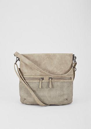 Hobo bag met een structuurmix