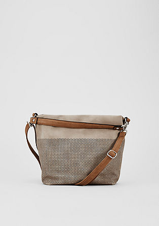 Hobo bag met perforaties