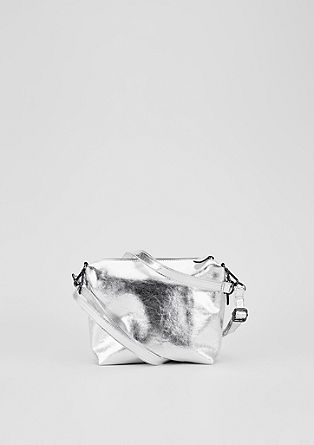 City bag in metallic look