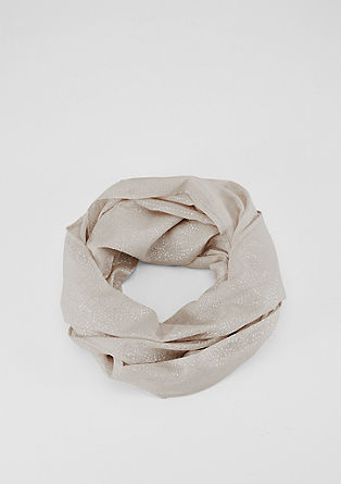 Lightweight snood with a metallic print from s.Oliver