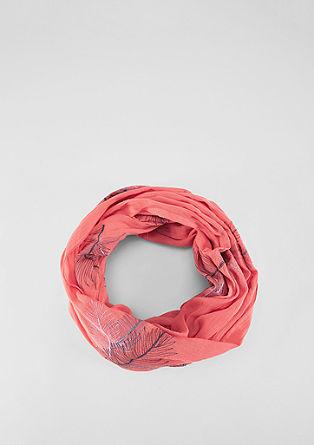 Loop mit Blätter-Stickerei