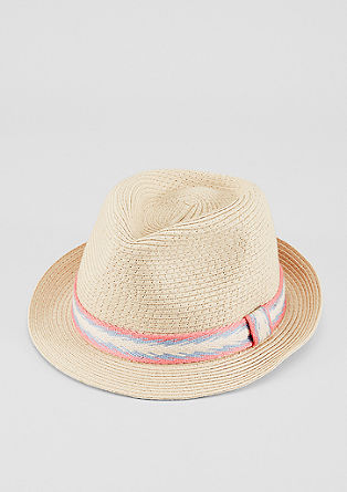 Sun hat with woven hatband from s.Oliver