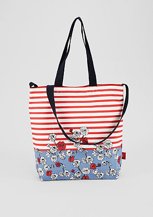 Patterned canvas shopper from s.Oliver