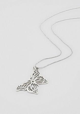 Ogrlica z obeskom metulja