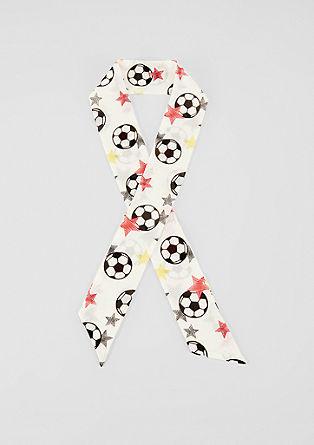 Mini-Schal mit Fußball-Print