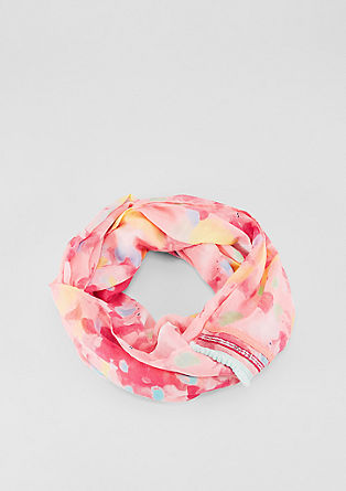 Snood with a bright print from s.Oliver